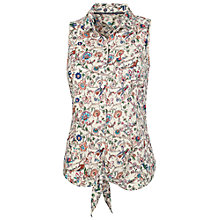 Buy Fat Face Rizzo Garden Floral Shirt, Natural Online at johnlewis.com