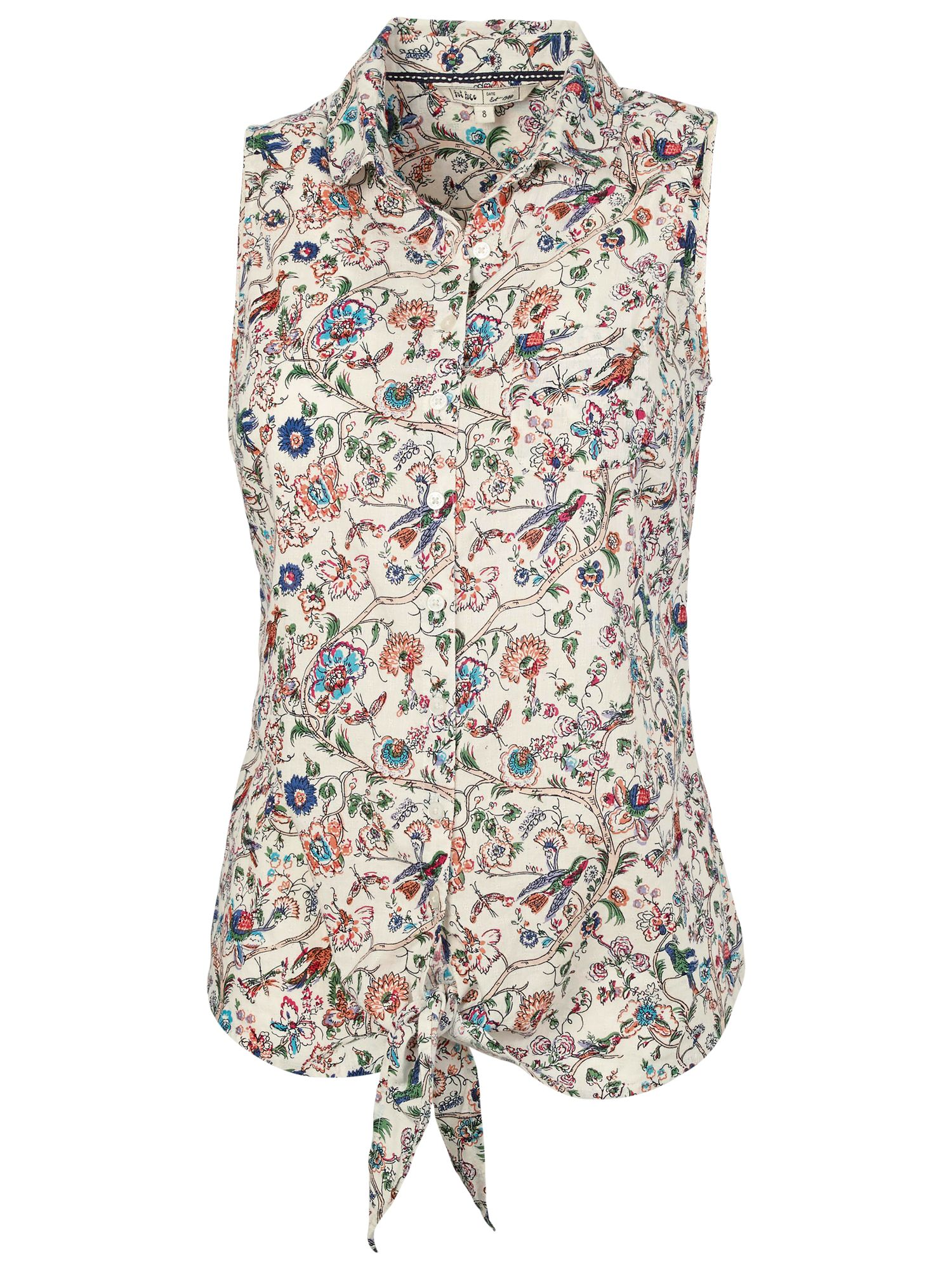Fat Face Rizzo Garden Floral Shirt, Natural By Fat Face