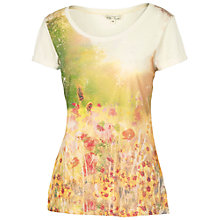 Buy Fat Face Meadow Photographic T-Shirt, Ivory Online at johnlewis.com
