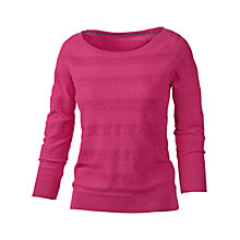 Buy Fat Face Lace Jumper, Cerise Online at johnlewis.com