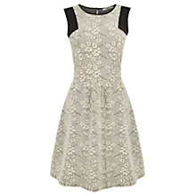 Buy Oasis Blossom Textured Dress, Multi Natural Online at johnlewis.com