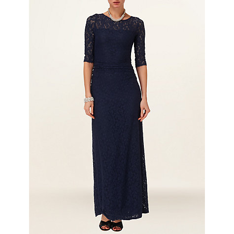Buy Phase Eight Angelina Lace Dress, Navy Online at johnlewis.com