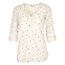 Buy Fat Face Scattered Bird Mollie Top, Ivory Online at johnlewis.com