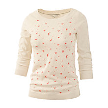 Buy Fat Face Scattered Bird Printed Jumper, Ivory Online at johnlewis.com