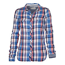 Buy Fat Face Classic Nep Check Shirt, Jay Blue Online at johnlewis.com