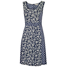 Buy Fat Face Robyn Ethnic Patchwork Dress, Navy Online at johnlewis.com