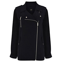 Buy Oasis Biker Parka Jacket, Navy Online at johnlewis.com