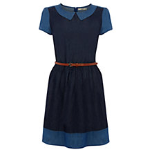 Buy Oasis Olivia Patched Dress, Denim Online at johnlewis.com