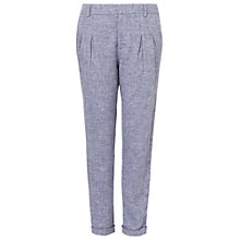 Buy Phase Eight Larochelle Skye Tapered Linen Trousers, Blue Online at johnlewis.com