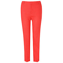Buy Phase Eight Sicily Zoya Solid Linen Trousers, Gerbera Online at johnlewis.com