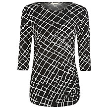 Buy Planet Scratch Print Jersey Top, Multi Online at johnlewis.com