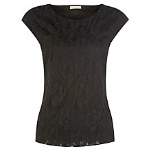 Buy Planet Lace Top, Black Online at johnlewis.com