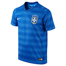Buy Nike Junior Brasil CBF Short Sleeve Away Stadium Shirt 2014, Blue Online at johnlewis.com