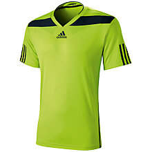 Buy Adidas Barricade Semi Fit Crew Neck Tennis T-Shirt, Green Online at johnlewis.com