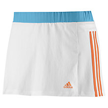 Buy Adidas Response Tennis Skort, White/Orange Online at johnlewis.com