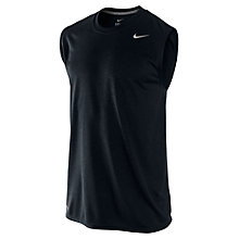 Buy Nike Legend Sleeveless T-Shirt, Black Online at johnlewis.com