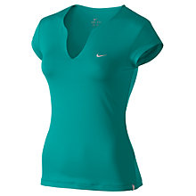 Buy Nike Pure Short Sleeve T-Shirt, Green Online at johnlewis.com