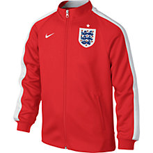 Buy Nike Boy's N98 England Football Zip Up Track Jacket, Red Online at johnlewis.com