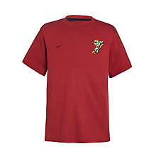 Buy Nike Boy's Hero Ronaldo Crew Neck T-Shirt, Red Online at johnlewis.com
