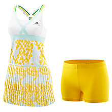 Buy Adidas by Stella McCartney Barricade Tennis Dress, White/Yellow Online at johnlewis.com