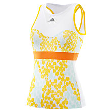 Buy Adidas by Stella McCartney Barricade Tennis Printed Vest, White/Yellow Online at johnlewis.com