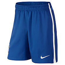 Buy Nike Junior Brasil CBF Stadium Replica Home Shorts 2014/2015, Blue Online at johnlewis.com