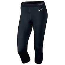 Buy Nike Pro Hypercool Flash Capri Pants, Black Online at johnlewis.com