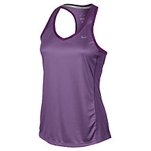 Buy Nike Miler Tank Top, Purple Online at johnlewis.com