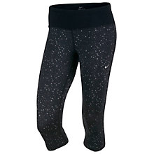 Buy Nike Epic Printed Cropped Running Tights, Black Online at johnlewis.com