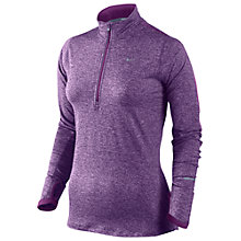 Buy Nike Women's Element Half Zip Running Top, Purple Online at johnlewis.com