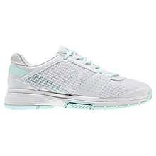 Buy Adidas Women's Barricade Team 3 Tennis Shoes, White/Green Online at johnlewis.com