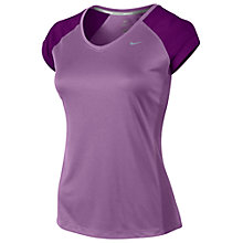 Buy Nike Women's Miler V-Neck T-Shirt Online at johnlewis.com