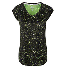 Buy Nike Women's Miler Printed V-Neck T-Shirt, Grey Online at johnlewis.com