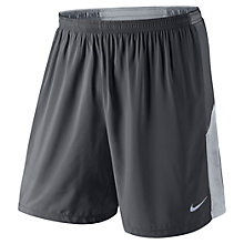 "Buy Nike 7"" Pursuit 2-in-1 Plain Running Shorts, Grey Online at johnlewis.com"