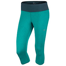 Buy Nike Epic Printed Cropped Running Tights, Green Online at johnlewis.com