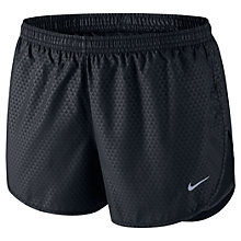 Buy Nike Women's Tempo Printed Shorts, Black Online at johnlewis.com