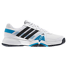 Buy Adidas Men's Barricade Team 3 Court Shoes, White Online at johnlewis.com