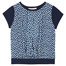 Buy Jigsaw Junior Girls' Smudge Spot Top, Navy Online at johnlewis.com