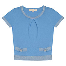 Buy Jigsaw Junior Girls' Short Sleeve Sweater Online at johnlewis.com