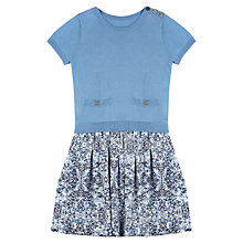 Buy Jigsaw Junior Girls' Knit and Woven Mix Dress, Blue Online at johnlewis.com