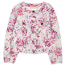 Buy Jigsaw Junior Girls' Collarless Floral Denim Jacket, Dusty Pink Online at johnlewis.com