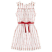 Buy Jigsaw Junior Girls' Ladybird Print Dress, White/Red Online at johnlewis.com