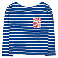 Buy Jigsaw Junior Girls' Essential Long Sleeved Stripe T-Shirt Online at johnlewis.com