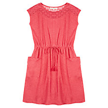 Buy Jigsaw Junior Girls' Linen & Lace Dress Online at johnlewis.com
