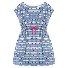 Buy Jigsaw Junior Girls' Geo Diamond Dress, Blue Online at johnlewis.com