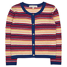 Buy Jigsaw Junior Girls' Multi Stripe Cardigan, Multi Online at johnlewis.com
