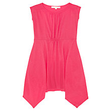 Buy Jigsaw Junior Girls' Handkerchief Hem Dress, Pink Online at johnlewis.com