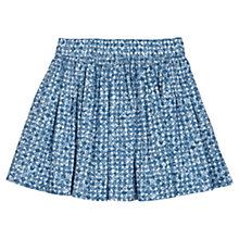Buy Jigsaw Junior Girls' Abstract Floral Skirt, Blue Online at johnlewis.com