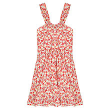 Buy Jigsaw Junior Girls' Painted Floral Dress, Red Online at johnlewis.com