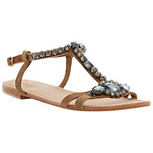 Buy Bertie Katty Embellished Sandals, Tan Online at johnlewis.com